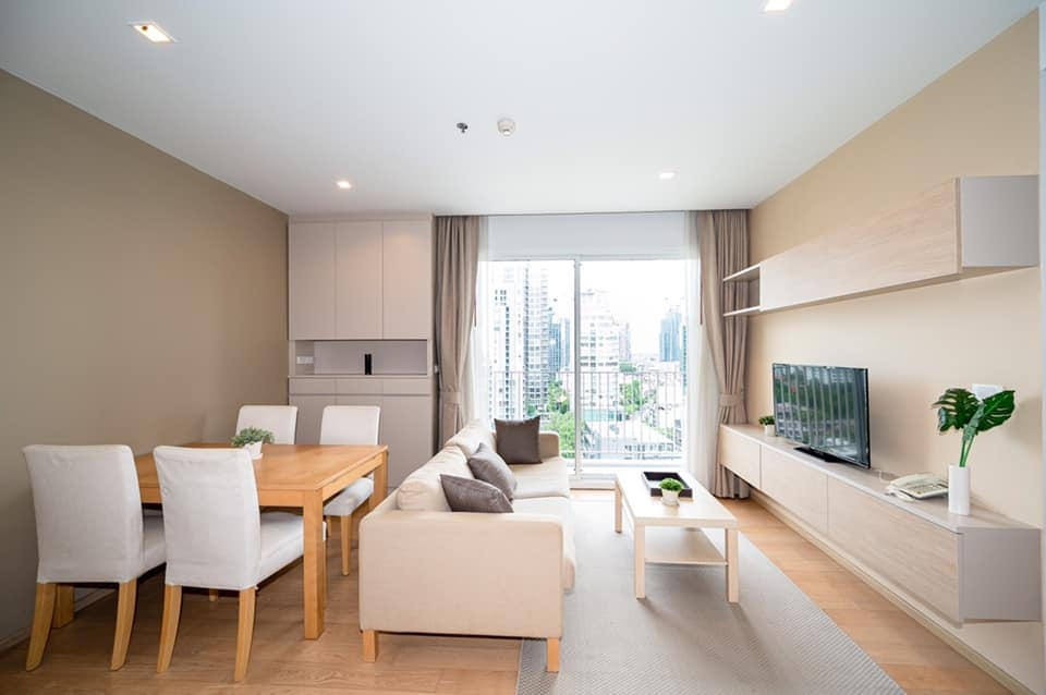 LTH2229 – HQ by Sansiri FOR RENT 2 beds 2 baths size 75 Sq.M. BTS Thonglor station ONLY 65k / month