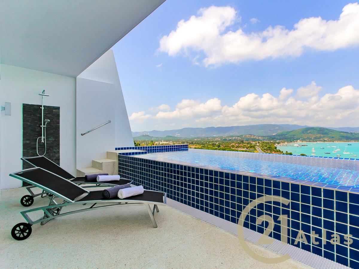Splendid 2 bedrooms sea view pool villa